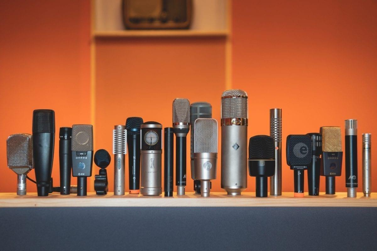 Tonstudio Equipment analoge Mikrophone